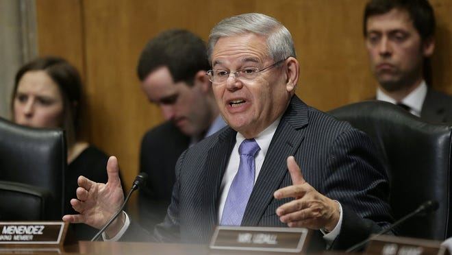 Getty Images U.S. Sen. Robert Menendez (D-NJ) speaks during a Senate Foreign Affairs subcommittee hearing on February 3, 2015 in Washington, DC. Menendez says President Obama's request to use military force against the jihadist Islamic State potentially could be used to wage open-ended war. (Photo by Win McNamee, Getty Images)