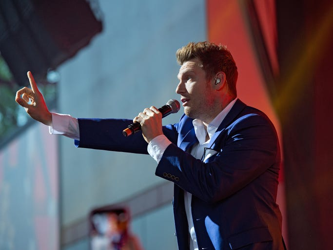 The Backstreet Boys performed at Riverbend Music Center on Sunday, with special guest Avril Lavigne.