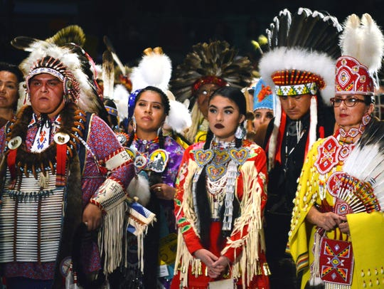 Native American dancers from the United States and