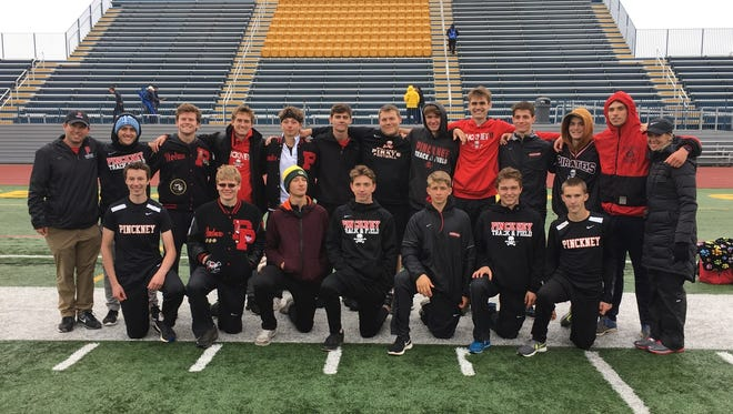 Pinckney's boys were second in the SEC White track and field meet, a finish that earned the Pirates the overall season championship.
