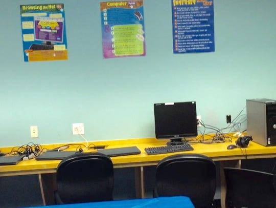 This June 21, 2016 photo shows a computer lab at the