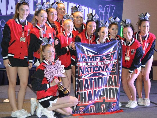 Dynasty, a senior level 2 team , won first place in its division Jan. 16 and 17, 2016, at the Jamfest Cheer Super Nationals in Indianapolis.
