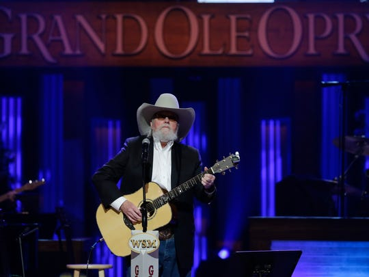 Charlie Daniels performs during the funeral for country music star George Jones in the Grand Ole Opry House on May 2, 2013, in Nashville, Tenn.