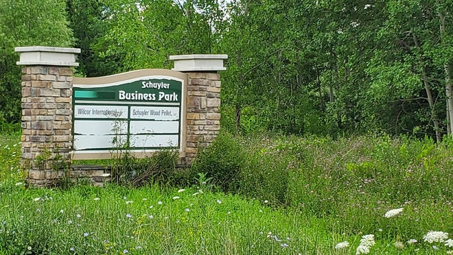 The Herkimer County Legislature has committed $900,000 to develop infrastructure at the Schuyler Business Park, on state Route 5, in Schuyler. Pictured is the sign outside of the park.