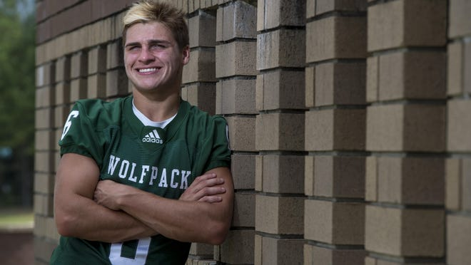 Greenbrier High School Football player Brayden Collett photographed at his school Friday afternoon August 14, 2020 in Evans, Ga.