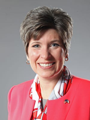 Joni Ernst, candidate for U.S. Senate, met with The Des Moines Register's editorial board on Friday, May 9, 2014.