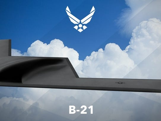 Air Force artist rendering of the B-21 Raider. The