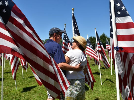 Tim and Dominae Laveille of Bedminster share a moment