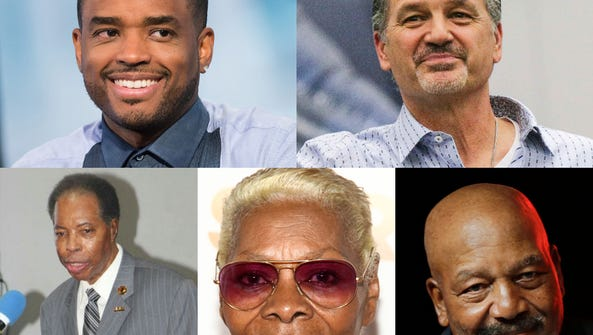 From top, left: Larenz Tate, Chuck Pagano, Leroy Robinson,