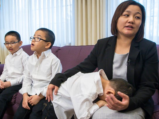 Ester Kim, widow of Stephen Kim, who was killed in