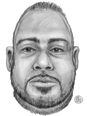 Westchester County police on April 13, 2016, released this sketch of a man found dead along the Bronx River Parkway in Yonkers on April 2, 2016.
