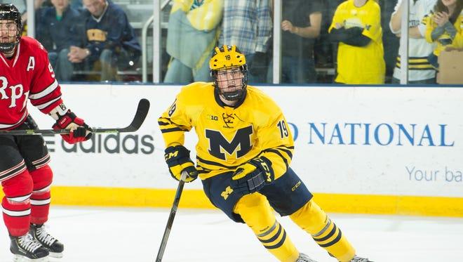 Michigan forward Dylan Larkin
