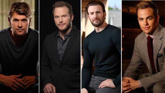 Chris (Hemsworth), Chris (Pratt), Chris (Evans) and