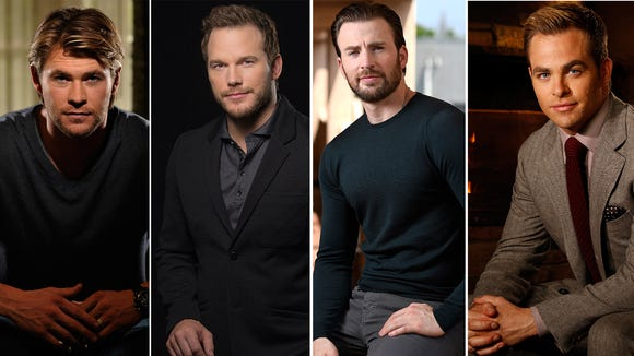 Chris (Hemsworth), Chris (Pratt), Chris (Evans) and