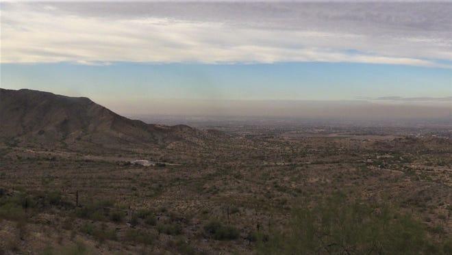 Hazy skies over Phoenix on Dec. 1, 2017.