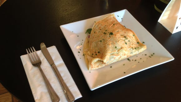 The chicken asiago crepe at Le Cafe Creperie, which is now in Marlton Crossing.