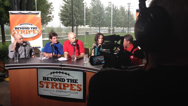 Duke Tobin on the first of the weekly Tuesday run of Beyond The Stripes from the Moerlein Lager House.