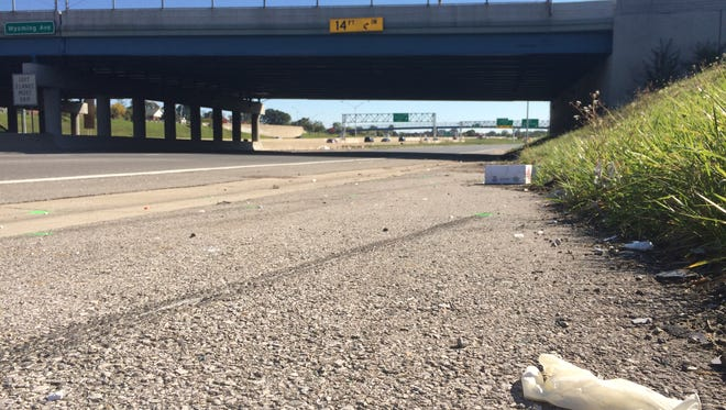 I-96 at Wyoming on Wednesday, Sept. 24, 2014, where a fiery crash occurred on Tuesday, killing four people.