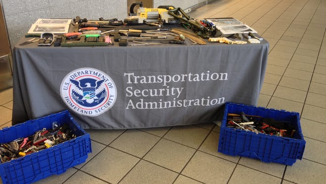 The TSA in Mississippi showed off the items they've confiscated at Jackson International.