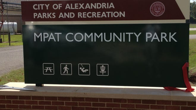 This new sign at Martin Park/Airview Terrace Community Park is part of a $270,000 project to better identify and guide people to Alexandria parks and recreational facilities.