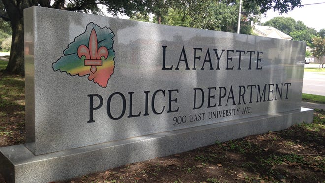 The sign outside the station of the Lafayette Police Department, which recently created its own team to investigate its officer-involved shootings.