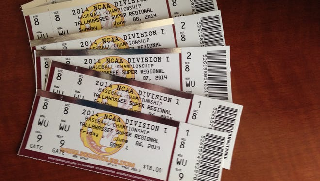 Florida State's Super Regional tickets were worthless after Saturday's elimination by Alabama in the Tallahassee Regional.