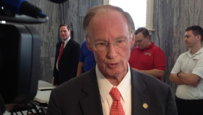 Gov. Robert Bentley speaks to the media on Friday, September 12, 2014 as part of Ready Alabama Day, part of National Preparedness Month.
