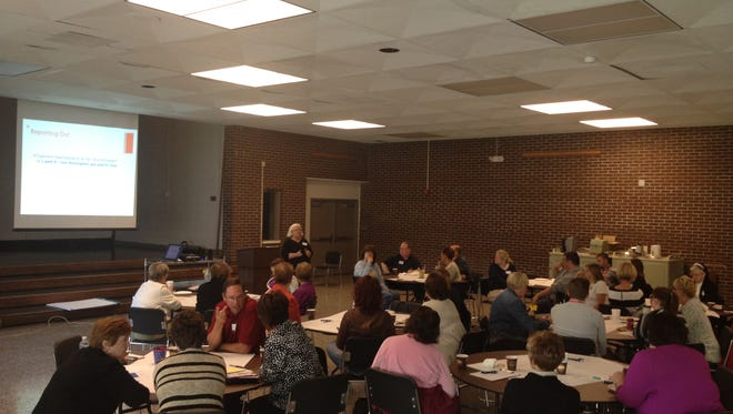 Members of the Muskingum County Hunger Network met Wednesday for the first of five meetings to address hunger locally.