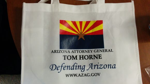 Giveaway at Thursday's Commerce Authority summit.