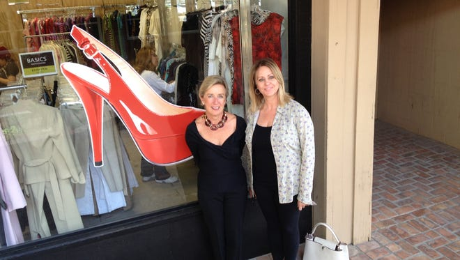 Ann Siner, left, founded My Sister's Closet with sister Jenny Siner, right.