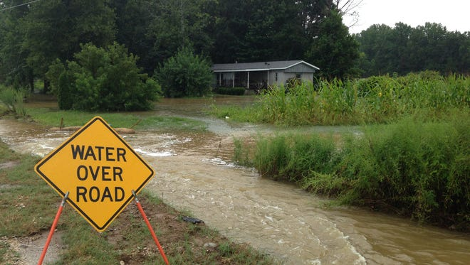 Flooding on Old Medina Road in north Madison County.