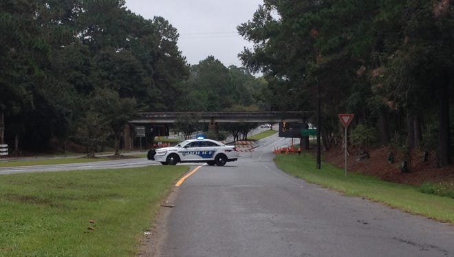 A piece of Apalachee Parkway is closed this morning