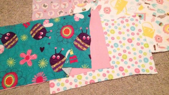 Leftover fabrics I had