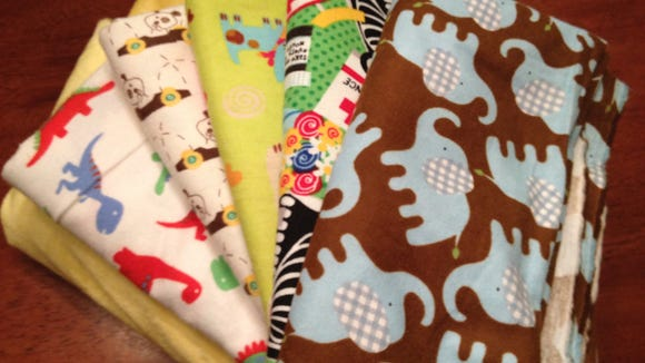 The fabrics I picked for the project