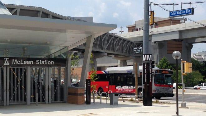 The McLean station of Metro's Silver Line, on June 23, 2014, in McLean, Va.