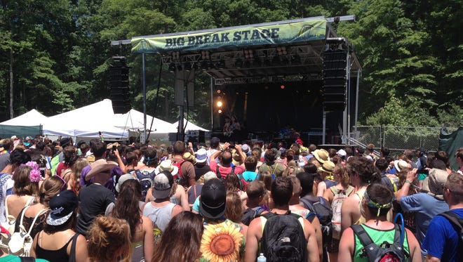 Mean Lady performs at Firefly Music Festival in Dover Friday afternoon.