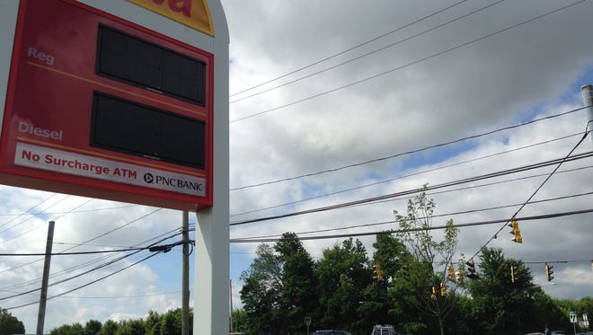 A Wawa sign went dark when the store along Del. 141 lost power on Thursday morning. State police directed traffic at the Commons Boulevard intersection nearby until power was restored.