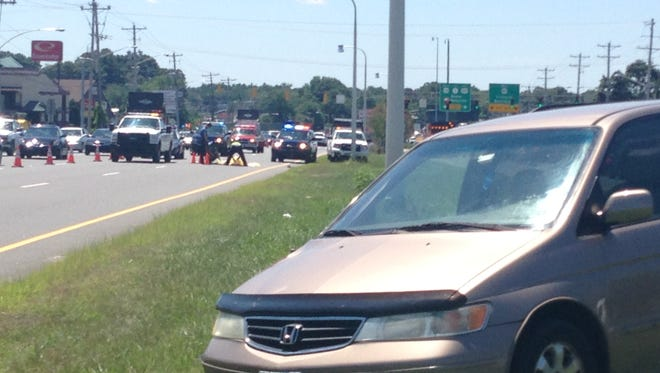 A woman was killed on U.S. 13 near New Castle.