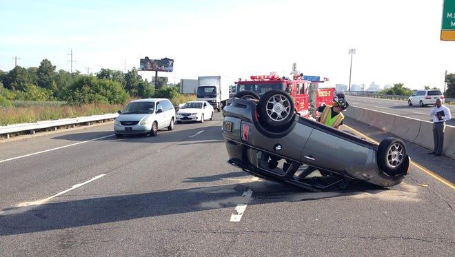 Accident scene on I-95