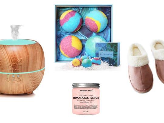 A spa gift basket or de-stress kit.