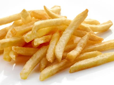 Expert suggested eating only six French fries per serving. He got a serving of backlash