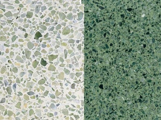 Terrazzo is having a moment in 2019. The chips of marble, granite, and glass ensure that it will always look interesting, and it works on walls and ceilings, as well as floors.