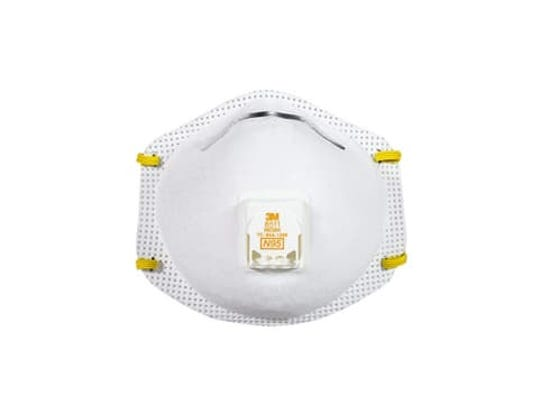 Protect your lungs from airborne particles with an N95 mask.