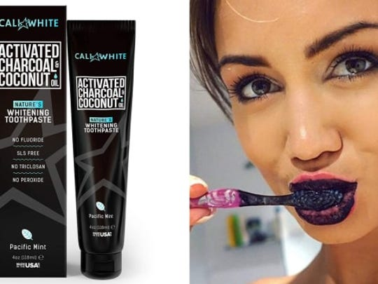 This charcoal toothpaste claims to whiten teeth naturally.