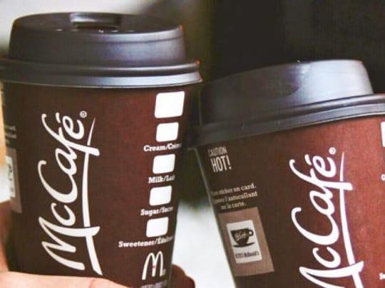 McDonald's McCafe coffee