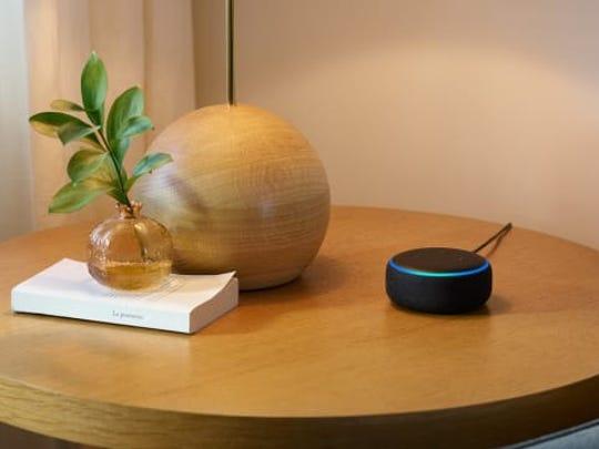 Echo Dot smart speaker.