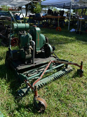 A Coldwell lawn mower from around 1924 that is believed to have been owned by the Bush family. Steve Johnson has a collection of nearly 400 vintage lawn and garden tractors, and about 30 of them are on display during the Great Oregon SteamUp at Antique Powerland in Brooks. Photographed on Friday, July 25, 2014.