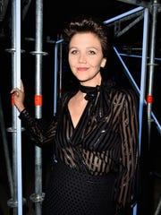 Maggie Gyllenhaal at the Miu Miu event in Paris on