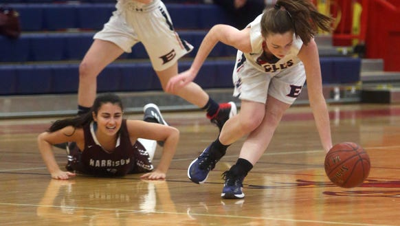 Eastchester's Patricia Murtagh gathers up a loose ball
