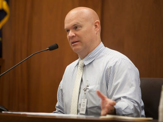 St. George police Detective Brandon Dunbar testifies June 20, 2018, during the preliminary hearing of the 16-year-old boy accused of bringing a incendiary device to Pine View High School.